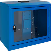 Rousseau Wall-Mounted Cabinet With Polycarbonate Door, Avalanche Blue