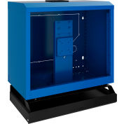 Rousseau Wall-Mounted Cabinet With Keyboard & Mouse Support, Avalanche Blue