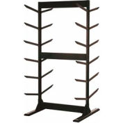 "Double Sided Stock Rack 45""Wx42""Dx87""H Stationary W/Glide 6 Level Black"