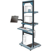 "Computer Multi-purpose Stand - 32""Wx27""Dx85""H Everest Blue"