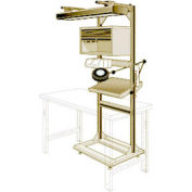 """Electronic Multi-purpose Stand - 32""""Wx27""""Dx85""""H Beige"""