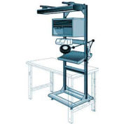 "Electronic Multi-purpose Stand - 32""Wx27""Dx85""H Everest Blue"