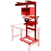 """Electronic Multi-purpose Stand - 32""""Wx27""""Dx85""""H Red"""
