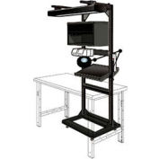 """Electronic Multi-purpose Stand - 32""""Wx27""""Dx85""""H Black"""
