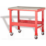 "Rousseau Metal Mobile Teardown Bench WSW7000_806, 48""W, Glossy Carmine Red"