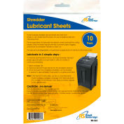 Royal Sovereign Shredder Lubricant Sheets - 10 Pack