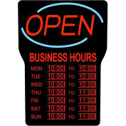 Royal Sovereign LED Open Sign W/Hours