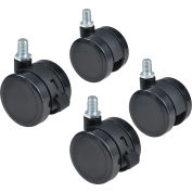 Replacement Pop-In Mobile Board Casters for Global Industrial™ Mobile Boards, 4/Set