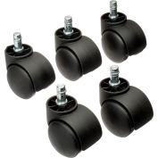 Interion® 50mm Casters w/Barrel, 5 Per Set