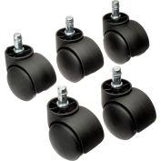 Interion® 50mm Casters w/Barrel, 5 Per Set