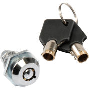 Global Industrial™ Replacement Lock Set w/2 Keys for Inter Office Mailboxes (443490 & 443491)