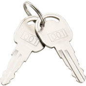 Replacement Keys For Outer Door of Global Industrial™ Narcotics Cabinet 436951, 2pcs Key# 001