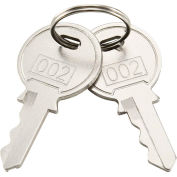 Replacement Keys For Inner Door of Global Industrial™ Narcotics Cabinet 436951, 2pcs Key# 002
