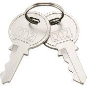 Replacement Keys For Inner Door of Global Industrial™ Narcotics Cabinet 436951, 2pcs Key# 002