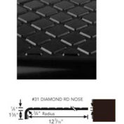 "Stair Tread Rubber Round Nose 42""L - Brown"
