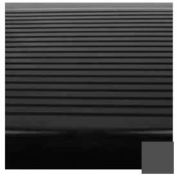 "Stair Tread Rubber Square Nose 42""L - Black/Brown"