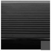 "Stair Tread Rubber Square Nose 48""L - Black/Brown"