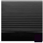 """Stair Tread Rubber Square Nose, Ribbed Pattern, 60""""L X 12-1/4""""D - Black"""