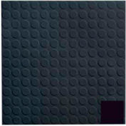 Rubber Tile Low Profile Circular Design 50cm - Black