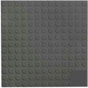 Rubber Tile Low Profile Circular Design 50cm - Black/Brown