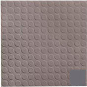 Rubber Tile Low Profile Circular Design 50cm - Charcoal