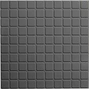 "Square Design Rubber Tile 19.69"" x 19.69"" x .125"" Charcoal"