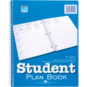 """Roaring Spring Student Plan Book, 11"""" x 8-1/2"""", White, 45 Sheets/Pad, 24 Pads/Pack"""