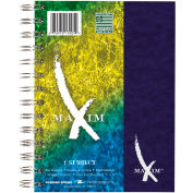 """Roaring Spring Maxim Notebook - 1 Subject, 7"""" x 5"""", White, 80 Sheets/Pad, 12 Pads/Pack"""