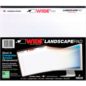 """Roaring Spring WIDE Landscape Pad, 11"""" x 9-1/2"""", White, 2/40 Sheets/Pad, 18 Pads/Pack"""