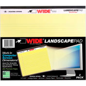 "Roaring Spring WIDE Landscape Pad, 11"" x 9-1/2"", Canary, 2/40 Sheets/Pad, 18 Pads/Pack"