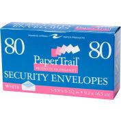 """Roaring Spring Gummed Boxed Envelopes, 6-3/4"""" x 3-3/4"""", White, 80 Per Pack, 24 Packs"""
