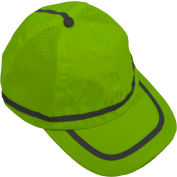 Petra Roc Hi-Visibility Baseball Cap, Polyester Mesh/Oxford, Lime, One Size