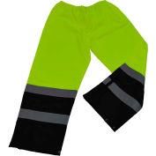 Petra Roc Waterproof Drawstring Pants, ANSI Class E, 300D Oxford/PU Coating, Lime/Black, XL