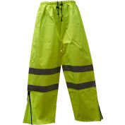 Petra Roc Waterproof Drawstring Pants, ANSI Class E, 300D Oxford/PU Coating, Lime, 3XL