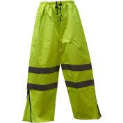 Petra Roc Waterproof Drawstring Pants, ANSI Class E, 300D Oxford/PU Coating, Lime, L