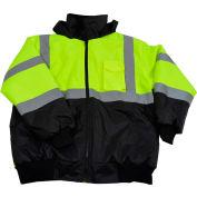 Petra Roc ANSI Class 3 Waterproof Bomber Jacket, Lime/Black, Size XL