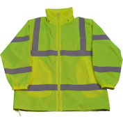 Petra Roc Windbreaker Jacket, ANSI Class 3, Polyester Taffeta, Lime, 2XL