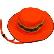 Petra Roc Hi-Visibility Full Brimmed Ranger Hat, Polyester Mesh/Oxford, Orange, S/M