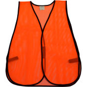 Petra Roc Non-ANSI All Purpose Safety Vest, Polyester Mesh, Orange, One Size