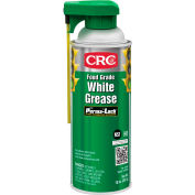 CRC Food Grade White Grease, 10 Wt Oz, Aerosol, Aluminum Complex, White - Pkg Qty 12