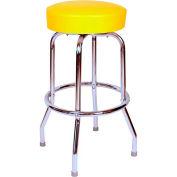 "Richardson Seating Swivel Barstool - 24""H - Yellow"