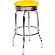 "Richardson Seating Retro Swivel Barstool - 24""H - Yellow"