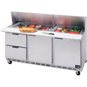 "Beverage-Air Commercial Food Tables 72"" SPED72-18-2 by"