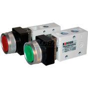 "ROSS® Pneumatic Flush Mounted Green Push Button Valve 1223B2FPG, 1/4"" NPT"