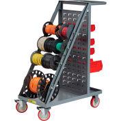 Brennan RT4-5TL-LP Wire Reel Cart, Louvered Panel Back, Non-Marking Polyurethane Wheels