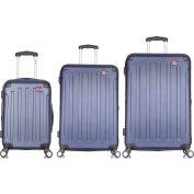 "DUKAP Intely 3-Piece Smart Hardside Luggage Set 20""/28""/32"" - USB & Integrated Weight Scale - Blue"