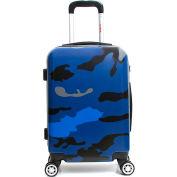 "InUSA PRINTS Lightweight Hardside Luggage Spinner 28"" - Blue Camouflage"