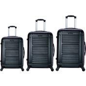 "InUSA Pilot Lightweight Hardside Spinner 3-Piece Luggage Set 20""/24""/28"" - Black"