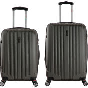 "InUSA San Francisco Lightweight Hardside Spinner 2-Piece Luggage Set 22""/26"" - Charcoal"