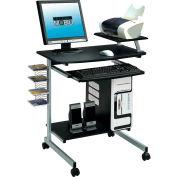 """Techni Mobili Compact Computer Desk, 27-1/2""""W x 19""""D x 36""""H, Graphite"""